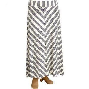 + ON Gray Striped Maxi Skirt
